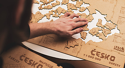 Hračky - Mapuzzle Česko - okresy - 11692153_