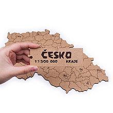 Hračky - Mapuzzle Česko - kraje - 11692159_