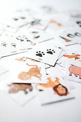 Hračky - Pexeso so stopami zvieratiek - 11693748_