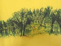 """Tričká - Dámske tričko""""Žlto-zelené"""" - 11695844_"""