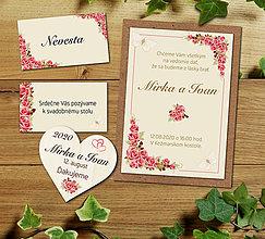 Papiernictvo - Svadobné oznámenie + sada - 11694501_