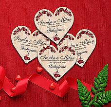 Darčeky pre svadobčanov - Svadobná magnetka - 11695706_