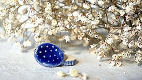 Náušnice - kermické náušnice č. 113 - modrô - 11694553_