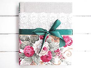 Papiernictvo - Svadobný fotoalbum s dátumom - 11695451_