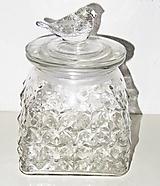 Polotovary - Dóza vtáčik - sklenený polotovar, výška 16 cm - 11694337_