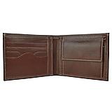 Tašky - Pánska elegantná peňaženka z pravej kože v tmavo hnedej farbe - 11695366_