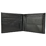 Tašky - Pánska elegantná peňaženka z pravej kože v tmavo čiernej farbe - 11695379_