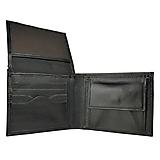 Tašky - Praktická peňaženka z pravej kože v čiernej farbe - 11695565_
