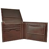 Tašky - Praktická peňaženka z pravej kože v tmavo hnedej farbe - 11695577_