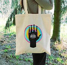 Nákupné tašky - Eko taška - Rainbow (100% bavlna) - 11696739_