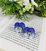 - Náušnice sirôtky modré - 11695294_