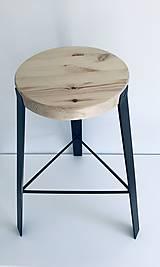 Nábytok - Predám barové stoličky (Čierna) - 11695050_