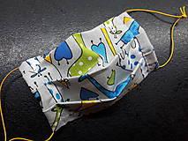 Rúška - Bavlnené rúško rôzne vzory podľa môjho výberu (Detské chlapčenské žirafky) - 11699689_