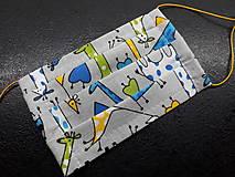 Rúška - Bavlnené rúško rôzne vzory podľa môjho výberu (Detské chlapčenské žirafky) - 11699690_