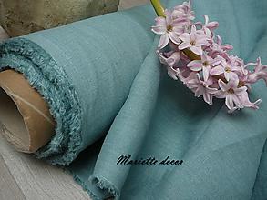 Textil - odstín DUSTY AQUAMARINE ..100% len metráž - 11699028_