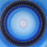Obrazy - MESAČNÁ MANDALA (polmesiac☾) 60 x 60 - 11699721_