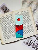 Drevená záložka do knihy - Mesiac alebo slnko?