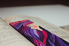 Papiernictvo - Drevená záložka do knihy - Sen noci purpurovej - 11698924_