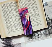 Papiernictvo - Drevená záložka do knihy - Sen noci purpurovej - 11698925_