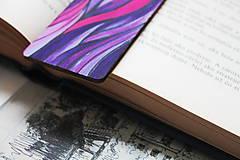 Papiernictvo - Drevená záložka do knihy - Sen noci purpurovej - 11698926_