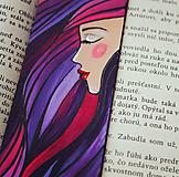 Papiernictvo - Drevená záložka do knihy - Sen noci purpurovej - 11698931_