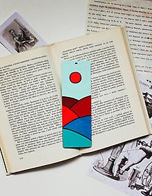 Papiernictvo - Drevená záložka do knihy - Mesiac alebo slnko? - 11698710_
