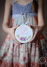 Detské doplnky - Malá Vyšiláska s iniciálou - 11699746_