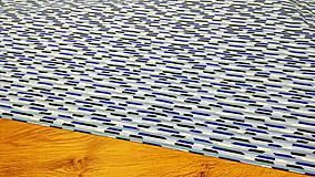 Textil - Bavlnená látka -Modry mix- cena za 10 centimetrov - 11703022_