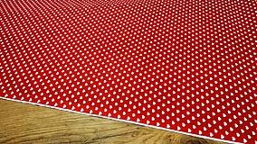 Textil - Bavlnená látka - Srdiečka 6,5 mm - cena za 10 centimetrov - 11703026_
