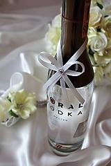 Pierka - Svadobné pierko na fľašu - 11702810_