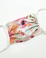 Rúška - Rúško na tvár - ochranné dvojvrstvové bavlnené rúško na tvár so zaväzovaním alebo gumičkou - 11701185_