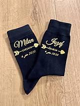 Obuv - Svadobné ponožky pre svedka - 11702823_