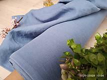 Textil - odstín MEDIUM STEEL BLUE ..100% len metráž - 11701647_