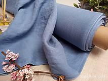 Textil - odstín MEDIUM STEEL BLUE ..100% len metráž - 11701648_