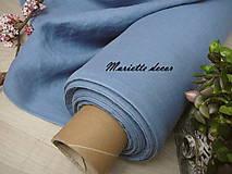 Textil - odstín MEDIUM STEEL BLUE ..100% len metráž - 11701649_