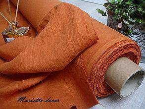 Textil - odstín TERRACOTTA.100% len metráž - 11701609_