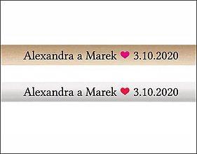 Darčeky pre svadobčanov - Ceruzka - farebná potlač - 11701993_