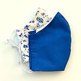 Rúška - Rúško kráľovsky modré - 11702089_