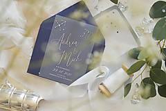 - luxusné svadobné oznámenie Je to vo hviezdach - 11703425_