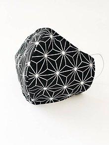 """Rúška - Dvojvrstvové rúško """"čierne origami"""" 100% bavlna/úpletu - 11700628_"""