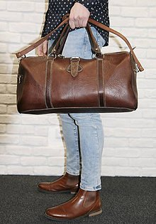 Veľké tašky - Brazília - kožená cestovná taška - 11701163_