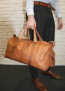 Veľké tašky - Kolumbia - kožená cestovná taška - 11701231_