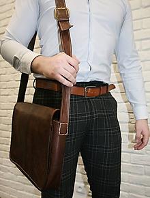 Na notebook - Panama - kožená taška na notebook UNISEX - 11701351_