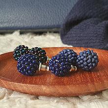 Náušnice - #bobuledousi TRIO pack modré - 11700134_