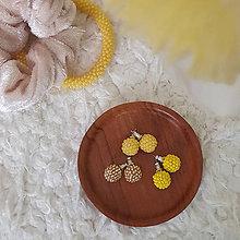 Náušnice - #bobuledousi TRIO žlté - 11700255_