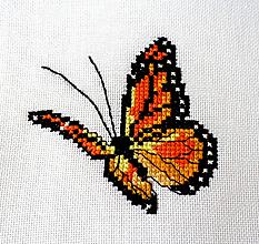 Obrázky - Výšivka - Motýľ oranžový - 11706377_