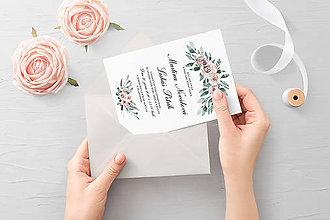 Papiernictvo - Svadobné oznámenie Odeta - 11704054_