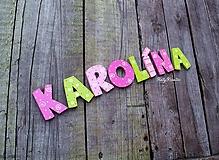 Detské doplnky - Karolína...menovka - 11704958_