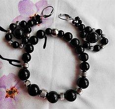 Sady šperkov - Čierna elegancia II (Mušľa Paua) - 11706117_