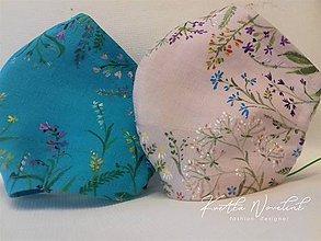 """Rúška - Ručne maľované ľanové rúška """" Lúčne kvietky """" - rôzne varianty - 11705787_"""